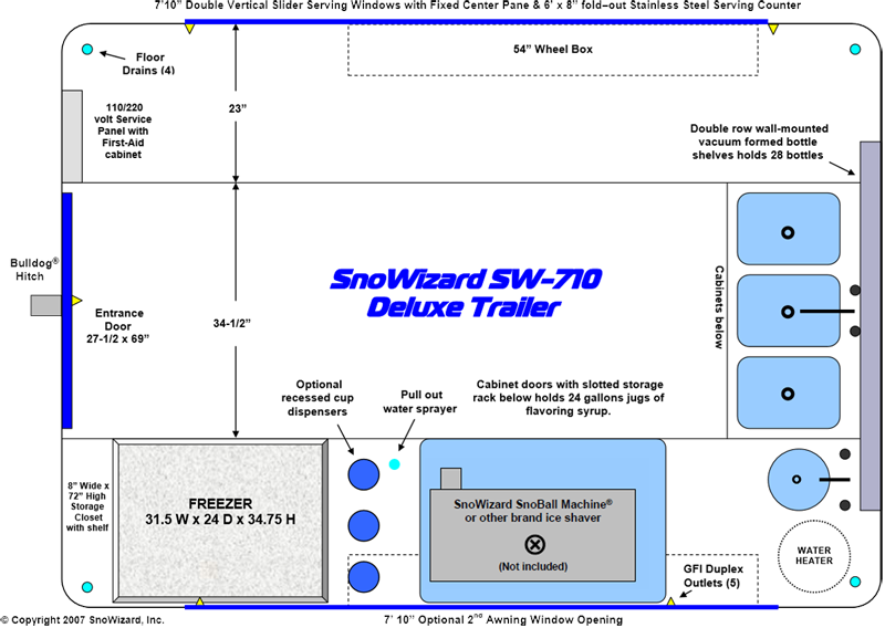 Snowizard 7x10 Snoball Concessiontrailer Snowizard Inc